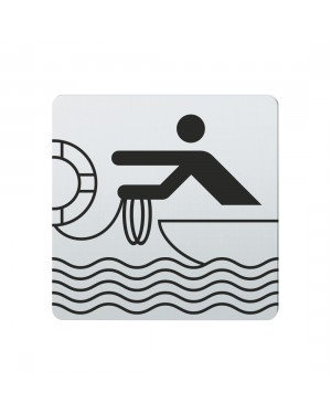 FSB Hinweiszeichen Rettungsbooteinsatz Lasergraviert Edelstahl fein matt (0 36 4059 00432 6204)