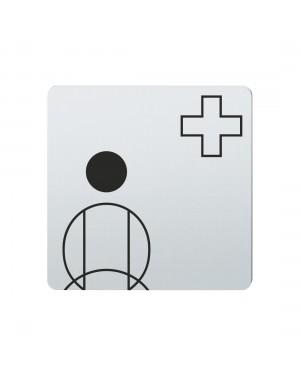 FSB Hinweiszeichen Krankenschwester Lasergraviert Edelstahl fein matt (0 36 4059 00501 6204)