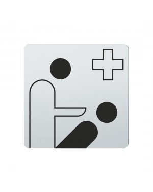 FSB Hinweiszeichen Zahn-/Kiefermedizin Lasergraviert Edelstahl fein matt (0 36 4059 00523 6204)