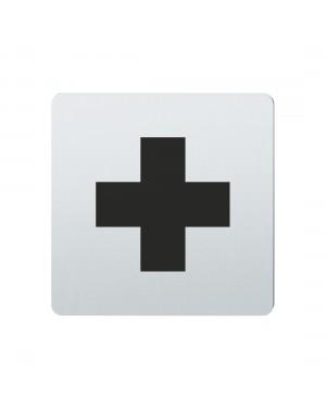 FSB Hinweiszeichen Rotes Kreuz Lasergraviert Edelstahl fein matt (0 36 4059 00533 6204)