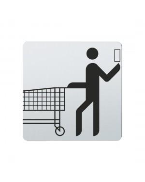 FSB Hinweiszeichen Supermarkt Lasergraviert Edelstahl fein matt (0 36 4059 00701 6204)