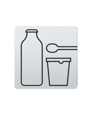 FSB Hinweiszeichen Milchprodukte Lasergraviert Edelstahl fein matt (0 36 4059 00704 6204)