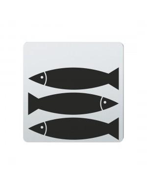 FSB Hinweiszeichen Fische Lasergraviert Edelstahl fein matt (0 36 4059 00706 6204)