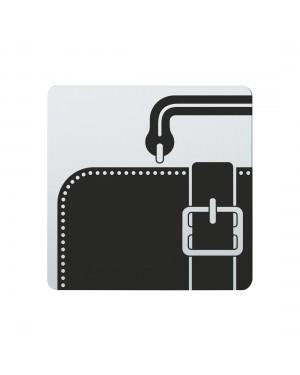 FSB Hinweiszeichen Lederwaren Lasergraviert Edelstahl fein matt (0 36 4059 00733 6204)