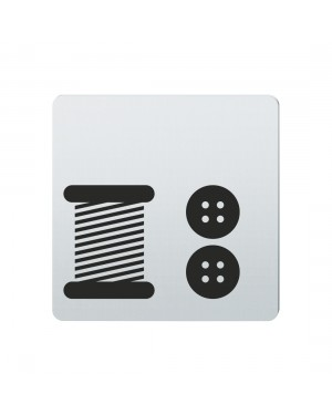 FSB Hinweiszeichen Kurzwaren Lasergraviert Edelstahl fein matt (0 36 4059 00736 6204)