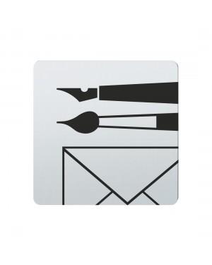 FSB Hinweiszeichen Schreibwaren Lasergraviert Edelstahl fein matt (0 36 4059 00741 6204)