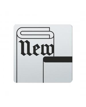 FSB Hinweiszeichen Zeitungen/Zeitschriften Lasergraviert Edelstahl fein matt (0 36 4059 00742 6204)