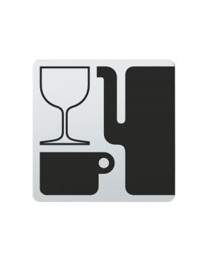 FSB Hinweiszeichen Glas und Porzellan Lasergraviert Edelstahl fein matt (0 36 4059 00781 6204)