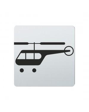 FSB Hinweiszeichen Hubschrauber Lasergraviert Edelstahl fein matt (0 36 4059 00836 6204)