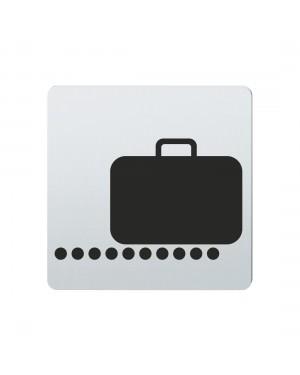 FSB Hinweiszeichen Gepaeckausgabe Lasergraviert Edelstahl fein matt (0 36 4059 00851 6204)