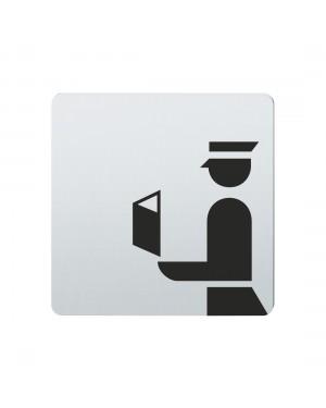 FSB Hinweiszeichen Passkontrolle Lasergraviert Edelstahl fein matt (0 36 4059 00890 6204)