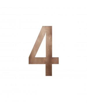 FSB Hausnummer Ziffer 4 Bronze (0 38 4005 00004 7615)