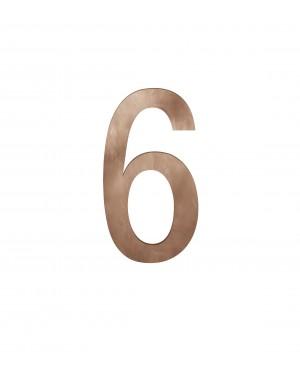 FSB Hausnummer Ziffer 6 Bronze (0 38 4005 00006 7615)