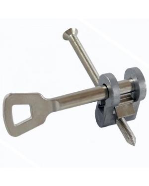 Buntbarteinsatz für PZ-Einsteckschlösser - Schweifung 10 - inkl. 1 Schlüssel kurz 65 mm und Stulpschraube