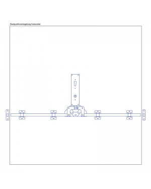 Torfeststeller GTB H2 Tortreibriegel Garagentorverschluss PZ mit Zweipunktverriegelung horizontal Torriegel