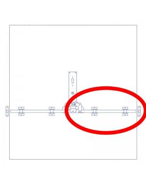 GTB Flachstange B 20x8x1500 mm mit Bohrung Dr. 10,5 mm Beschlagseinzelteile
