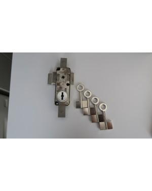 Schlossstahlschrank mit 4 Doppelbartschhlüssel Nachbauen
