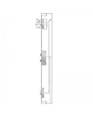 KFV - Mehrfachverriegelung - AS 2600 Schwenkhaken - Bolzen - Kombination - 92 - 35 - 10 - U24x2170x6