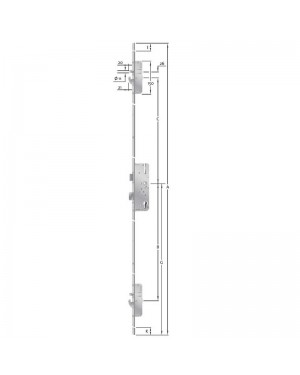 KFV - Mehrfachverriegelung - AS 2600  Schwenkhaken - Bolzen - Kombination - 92 - 65 - 10 - U24x2170x6