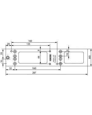 GEZE Montageplatten für den Türschließer silber TS 4000 und 5000