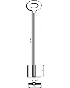 Doppelbartschlüssel Kaba Mauer Art: 8915