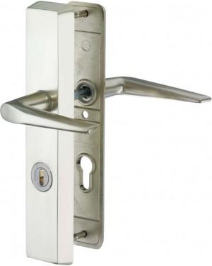 IKON Assa Abloy Schutzbeschlag mit Zylinderabdeckung - Drücker/Drücker Aluminium Beschlag Türbeschlag (SM01 46362)