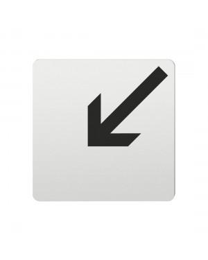 FSB Hinweiszeichen Pfeil nach links unten Lasergraviert Aluminium naturfarbig (0 36 4059 00005 0105)
