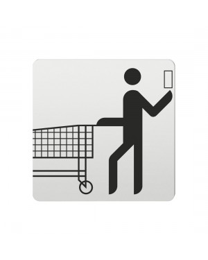 FSB Hinweiszeichen Supermarkt Lasergraviert Aluminium naturfarbig (0 36 4059 00701 0105)