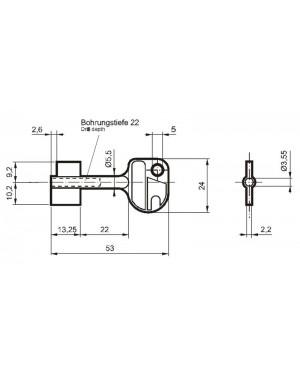 Doppelbartschlüssel Carl Wittkopp 8230 CAWI 53 mm