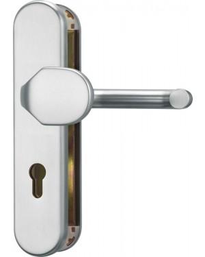 ABUS Türschutzbeschlag ohne Zylinderschutz für Feuerschutztüren KLT512 FS Kasse ES1 DIN 18273