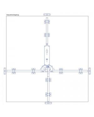 Torfeststeller GTB VH4 Tortreibriegel Garagentorverschluss PZ mit Vierpunktverriegelung Torriegel