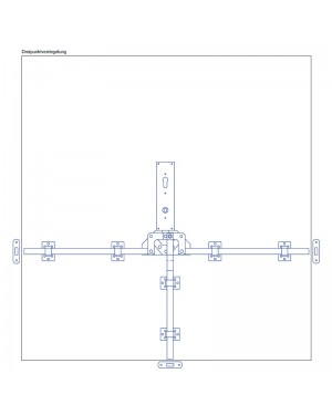Torfeststeller GTB VH3 Tortreibriegel Garagentorverschluss PZ mit Dreipunktverriegelung Torriegel