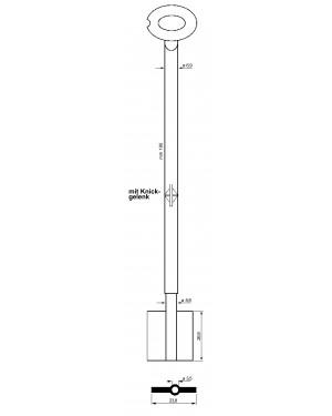 Tresorschlüssel mit Gelenk 6MAU15