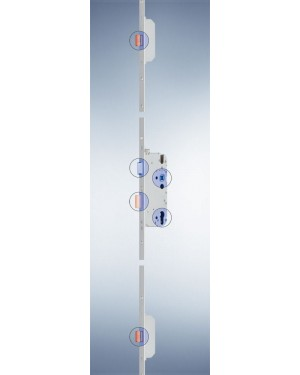 GU - Mehrfachverriegelung - Secury MR 2 mit 2 Massivriegel - 72 - 55 - 8 - 1050 - F20x2285x3