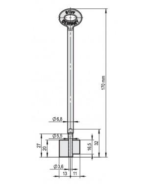 STUV Doppelbartschlüssel mit Gelenk 170 mm, 6,8 mm, 5,5 mm, 3,5 mm