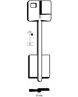 Doppelbartschlüssel YALE 5YA6
